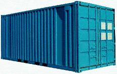 Отправка сруба контейнером